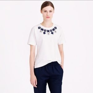 J.Crew Structured Necklace T-Shirt Small